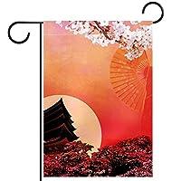 ガーデンサイン庭の装飾屋外バナー垂直旗BloosmとTower. オールシーズンダブルレイヤー