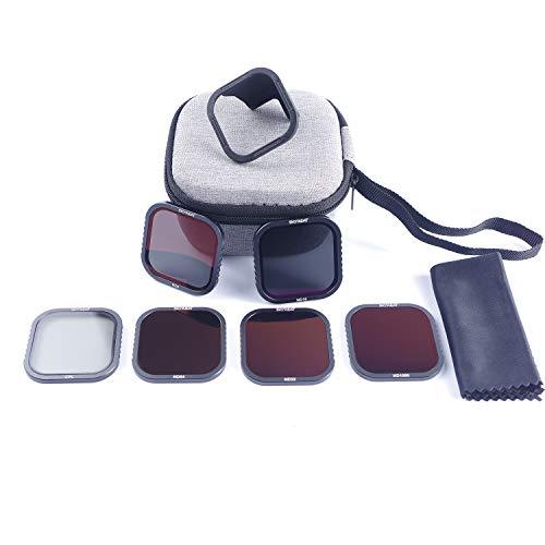 Skyreat ND-Filter 6er Pack für GoPro Hero 8 schwarz (CPL/ND8/ND16/ND32/ND64/ND1000) mit HotSwap Magnetfilterboden