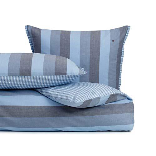 Tommy Hilfiger Juego de cama Denim. 1 funda nórdica de 135 x 200 cm y 1 funda de almohada de 80 x 80 cm.
