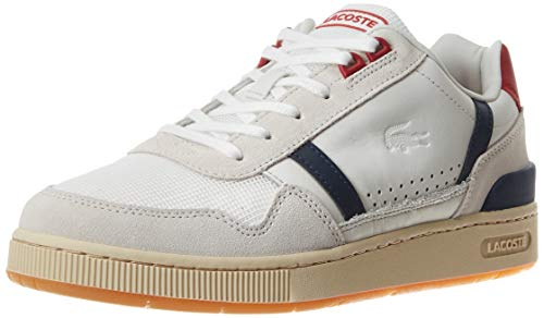 Lacoste T-Clip 120 2 Us SMA, Sneaker Uomo, Bianco (off Wht/Nvy/Red 8r1), 40 EU