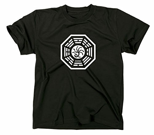 Lost Die Hydra T-Shirt Logo Dharma Initiative, schwarz, L