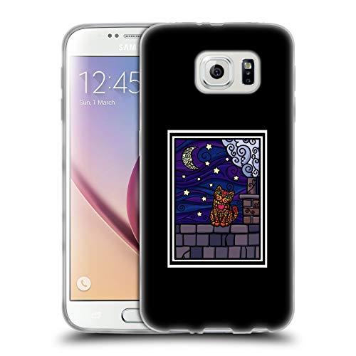 Head Case Designs Ufficiale Beth Wilson Cielo Notte Stellata Gatti A Spirale Cover in Morbido Gel Compatibile con Samsung Galaxy S6