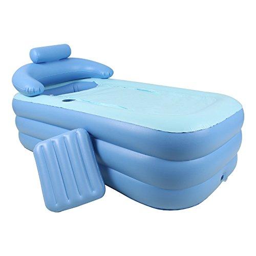 MUNA Badewanne Erwachsenes Badekurort PVC, das tragbare Badewanne für erwachsene aufblasbare Badewannen-Größe 150cm * 80cm * 45cm mit elektrischer Pumpe faltet (Farbe : A)