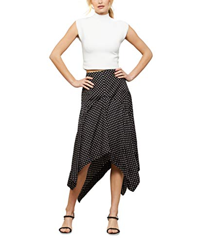 BCBGMAXAZRIA Women's Cropped Sleeveless Top Shirt, Gardenia, X-Large