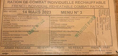 French Military Combat 24 hr Ration RCIR foreign MRE EPA FSR IRP IMP MCW[Menu 4]