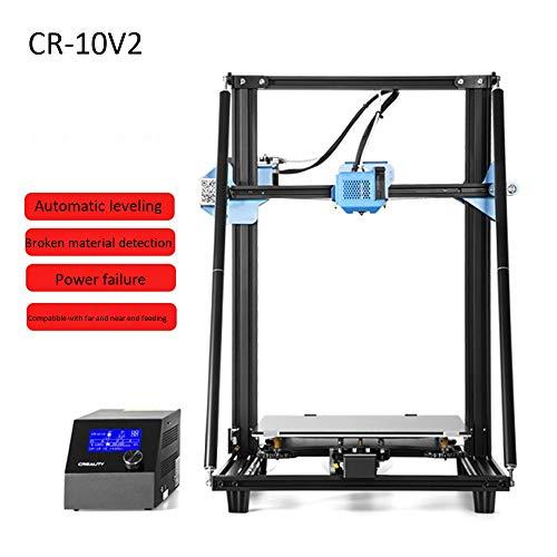 Imprimante 3D CR-10V2, imprimante 3D ultra-silencieuse haute précision CR-10V2, taille d'impression 300X300x400mm avec mise à niveau automatique Reprise de l'impression Extrusion aux deux extrémités