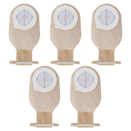DOITOOL 5 bolsas desechables de ostomía de una sola pieza bolsas de ostomía bolsa drenable para colostomía, ilostomía, estomía, sistema de una sola pieza