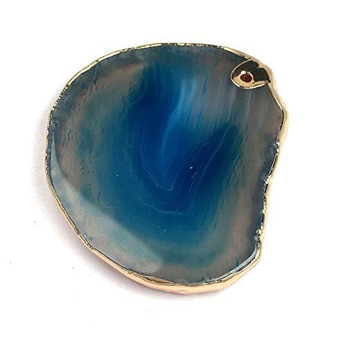 Suave Cristal, piedra natural irregular Moda azul real collar pendiente, pendientes curación de cristal collar de la pulsera hecha a mano de la decoración del hogar regalo hecho a mano Colecci