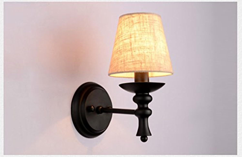 Spiegel-Frontleuchten, europischer Stil modern Wandleuchte Amerikanischer Stil lndliches Schlafzimmer Nachttischlampe Spiegel Vorderlicht Einfaches Wohnzimmer Gang-Lichter Einkopf-Wandleuchte