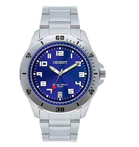 Relógio Orient Masculino Analógico - Prata/Azul - MBSS1155A D2SX