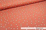 Mamasliebchen Jersey-Stoff dots #apricot (0,5m) Punkte