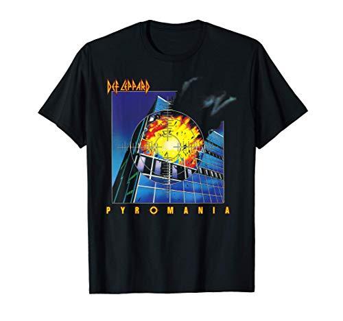 Def Leppard Pyromania 1983 Album T-Shirt in 4 Colors for Men, Child