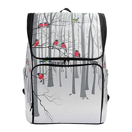 Deer in The Forest Business Mochila para portátil, pájaros y nieve, resistente al agua, mochila escolar de 17 pulgadas, mochila de computadora para mujeres, hombres, casual, senderismo, viajes, mochila