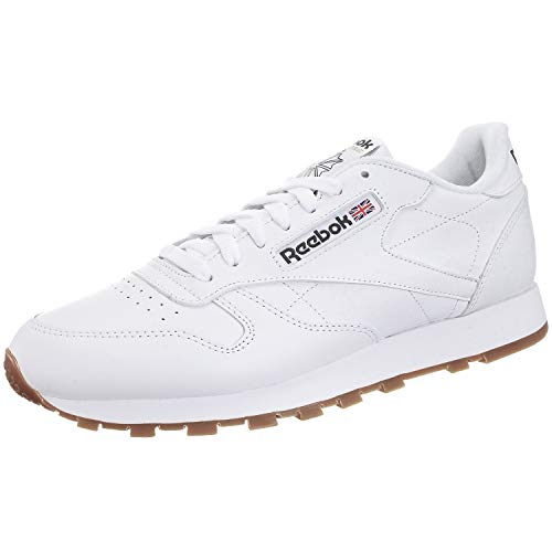 Reebok Jungen Classic Leather Sneaker, Weiß (white/gum), 36.5 EU / 4.5 UK