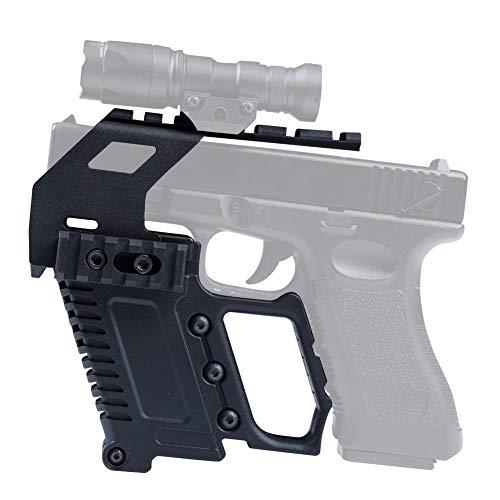 DETECH Taktische Glock-Serie Schienensockel-Ladegerät Pistolen-Karabiner-Kit Schnelles Nachladen für Glock G17 G18 G19-Serie