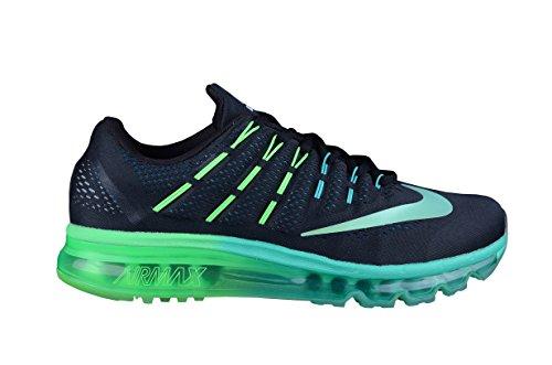 Nike Air Max 2016 Herren Running Sneakers, Schwarz/Grün, Größe 42 1/2