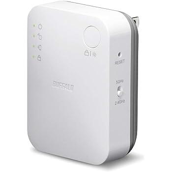 BUFFALO WiFi 無線LAN 中継機 WEX-733DHP/N 11ac 433+300Mbps コンセント直挿しモデル 簡易パッケージ 日本メーカー【iPhoneX/iPhoneXSシリーズ メーカー動作確認済み】