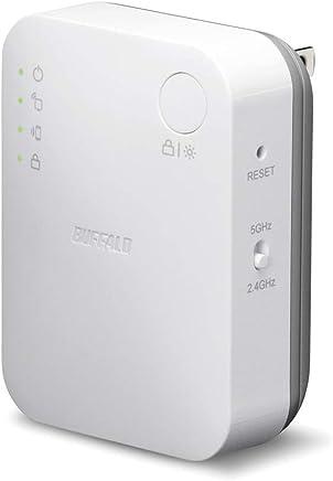 BUFFALO WiFi 無線LAN 中継機 WEX-733DHP/N 11ac 433+300Mbps コンセント直挿しモデル 簡易パッケージ
