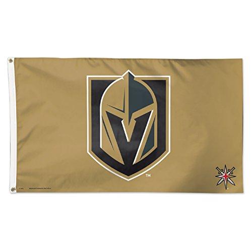 WinCraft las Vegas dorado caballeros oro 3x 5bandera de NHL negro Logo nuevo...