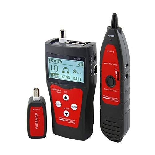 Perseguidor del alambre de red Cable Tester NF-300 de LAN Profesional Longitud Tester RJ45 Cable Tester Red de Monitoreo del perseguidor del alambre anti-interferencia de tono trazador