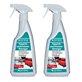 HOTREGA 2x moqueta y tapicería Limpiador Spray de 500ML Botella