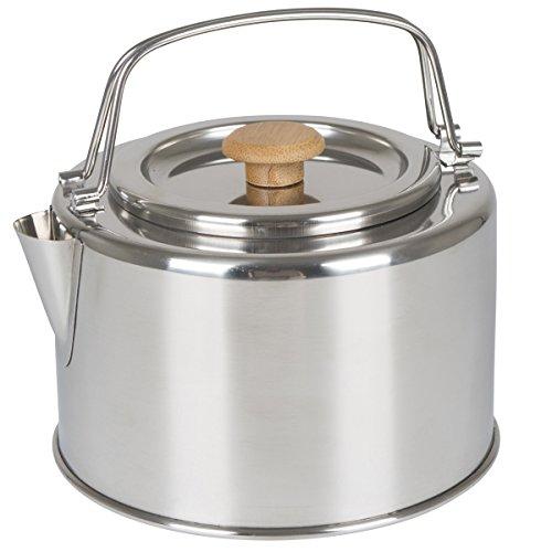 Wasserkessel Garda 1,2 Liter aus Edelstahl • Kessel Teekessel Wasserkocher Teekanne Camping Outdoor