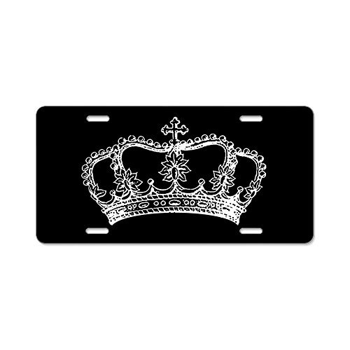Funny License Plate Frame Vintage Crown Decorative Front License Plate,Metal License Plate Covers for Women,Vanity Tag,Novelty Gifts, for Dad,Gifts for Mom