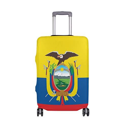 FANTAZIO Kofferschutzhülle Kofferhülle Kofferhülle Fahne von Ecuador NUR Cover