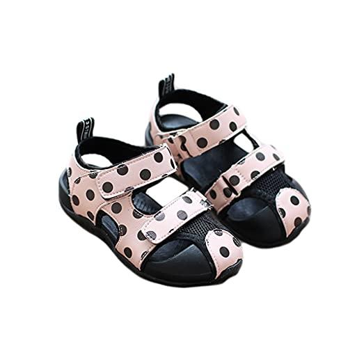 WXYPP Girl Baby Sandals Summer Princess Zapatos Zapatos para niños pequeños Zapatos Planos de Fiesta Adecuado (Color : Pink, Size : 16 cm)
