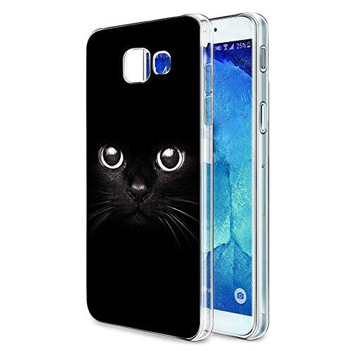 Cover Samsung Galaxy A5 2017, Eouine Ultra Slim Protective Cover Silicone, Morbido Antiurto 3d Cartoon Pattern Gel Bumper Case Custodia in TPU per Samsung Galaxy A5 2017 Smartphone (Gatto nero)
