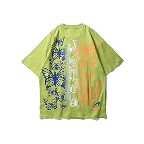 DMUEZW Diamond Butterfly Hip-Hop T-Shirt Hommes Femmes Été Hommes T-Shirts Street Tee Shirts