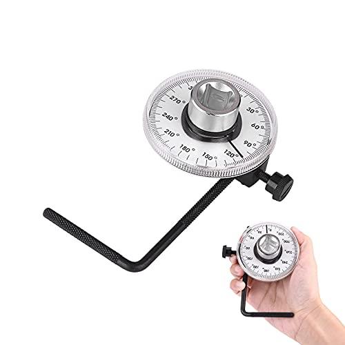 """Medidor Angular de Torque con Llave de 1/2"""" Cuadrado Interior 0-360 ° Herramienta de Medidor de Automóvil de Medidor de Ángulo de Torque de Transmisión para Llave Dinamometrica"""