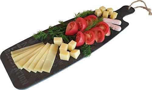 Bandeja de pizarra para servir, para queso, largo (45 x 15 cm) | Placa de piedra para cocina, tabla de cortar, queso, antipasti, plato para servir, piedra, bandeja para servir, bandeja para servir