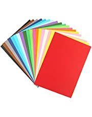 Toyvian 100pcs Kid Origami Papers Solid Color Colorful Hand Craft Paper Manual Cutting Folding Paper Sheet for Office School Statiionary Supply (Mixed Color)