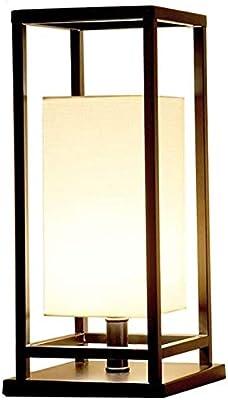 ZHLFDC クリエイティブファッションレトロテーブルランプ、現代のベッドルーム、ベッドサイド、スタディルーム、リビングルーム、デスクトップ装飾照明、鉄アート、ファブリック素材、非フェージング、防錆