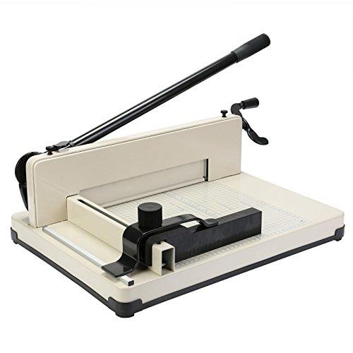 VEVOR Papierschneider A4, Stahl Papierschneidemaschine 30 cm Schnittlänge, Papierschneidemaschine für A4 B5 A5 B6 B7 Papier, kommerziell Schneidemaschine 500 Blatt Kapazität