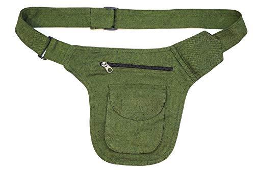 Heuptas/schoudertas groen stoffen tas Fair Trade (groen)