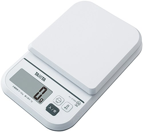 タニタ クッキングスケール キッチン はかり 料理 デジタル 2kg 1g単位 ホワイト KJ-210M WH ごはんのカロリーがはかれる
