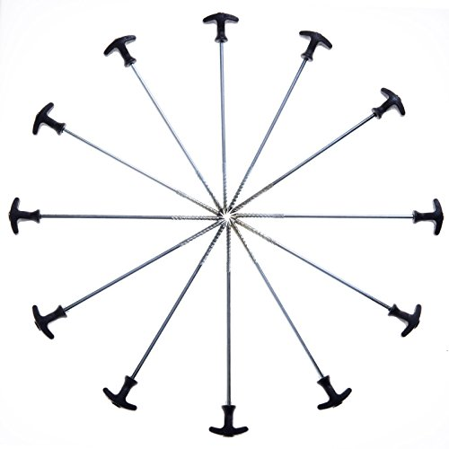 Qeedo Spiralheringe Light T-Pegs, Zelthering Stahl 30 cm - 25 Stück