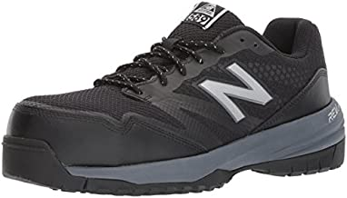 New Balance Men's Composite Toe 589 V1 Industrial Shoe, Black/Gray, 12 W US