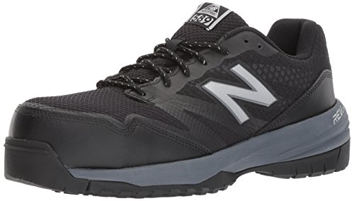 New Balance Men's Composite Toe 589 V1 Industrial Shoe, Black/Gray, 14 XW US