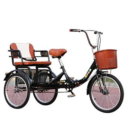 Triciclo Adulto Mayor Bicicleta de 3 Ruedas para Padres 20 '' cómodo...