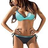 Btruely Damen Geteilter Badeanzug Push up Bikini Set Neckholder Bikinis Oberteil Mit High Tailleed Monokini Bottom Bikinioberteil Sport...