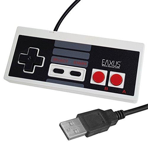 Eaxus® USB Controller im NES Design - 1,8m Retro USB Gamepad