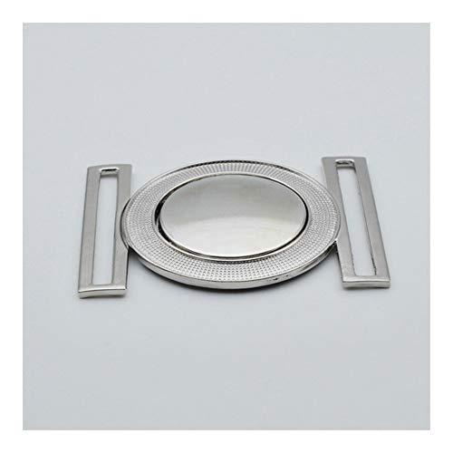 Las bisagras de la puerta de hardware 4/5/6 cm de ancho por la chaqueta de la manera de las mujeres hebilla del cinturón de ropa botón de la chaqueta de fijación Accesorios Bisagra ( Size : 6 cm )