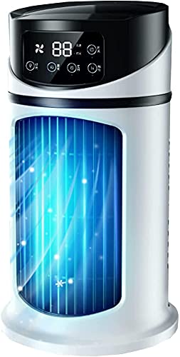 Aire acondicionado portátil Espacio personal Refrigerador de aire Ventilador acondicionado tranquilo con 6 velocidades del viento Humidificador de aire evaporativo USB para sala de oficina en el