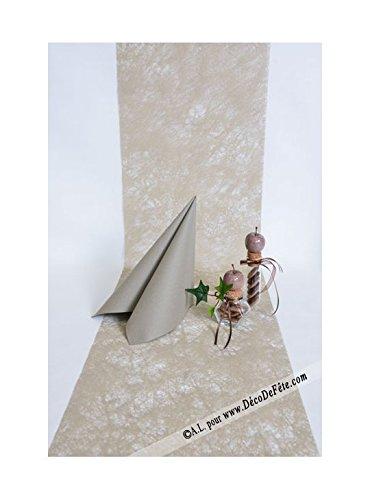 Chaks C50030013, CHEMIN DE TABLE luxe Romance 30cmx10m, Taupe