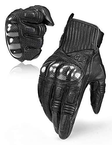 INBIKE Motorrad Handschuhe Touchscreen Sommer Winter Motorcross Motorradhandschuhe Herren Damen Kinder Aus Ziegenleder Schwarz Schwarz XL