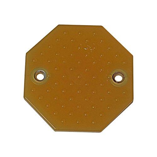 Gummiteller001 Gummiauflage gelb für Hebebühnen und Rangierheber für RP-TOOLS 2-Säulen Hebebühne D123xH10 mm