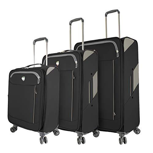 Buy Discount Mia Toro Italy Marano Softside Spinner Luggage 3pc Set, Black, One Size